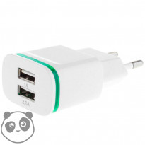 Væg Adapter 2.1A + 2 x USB